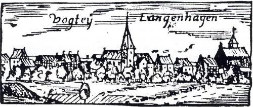 Vogtei - Kupferstich Heinr. van Lennep- Langenhagen im 17. Jahrhundert