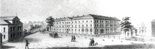 Hauptgebäude der Heil- und Pflegeanstalt um 1895