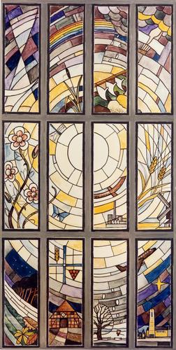 Fenster der Matthias-Claudius-Kirche - 1986 gestaltet von Conrad von Witzleben-Wurmb