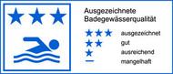 drei Sterne - ausgezeichnete Wasserqualität gemäß EU-Richtlinie