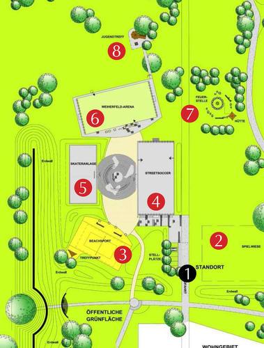 Plan des IKEP-Geländes
