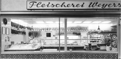 Fleicherei Weyers -  Nach Modernisierung des Geschäfts in der Kastanienallee um 1970