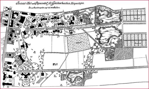 Gliem - Situationsplan der Provinzial Heil- und Pflegeanstalt von 1907